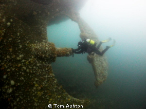 The prop-shaft of the Hispania, Mull, Scotland by Tom Ashton 